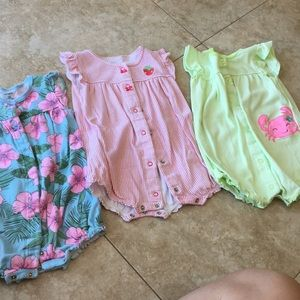 18month Carter's rompers-